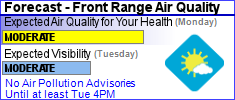Front Range Air Quality Advisory
